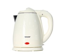 Wholesale 1 L electric kettle stainless kettles Household hot water kettle with black white color Inside stainless steel outside the plastic