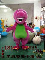 barney apparel - Cartoon Barney Dragon Costume Animal Animation Walking Mascot Performance Apparel EMS Shipping