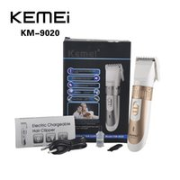 Wholesale KEMEI KM Electric Chargable Hair Clipper Trimmer Titanium Blade Hairclipper Cutting Machine Shearer With Limit Combs