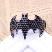 bats food - 2016 European And American Retro Bat Bangle Double Spring Bracelets For Women And Men bijoux