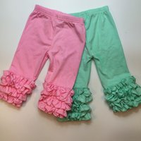 baby capri pants - summer hot sale pink mint green baby girls icing Capri cheap baby ruffle capri sell
