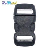 Wholesale 3 quot mm mini black plastic buckle side release button snap button bracelets