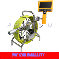 air inspection - Pipe Inspection Camera System with mm Self Levelling Camera Waterproof Borescope Endoscope underwater air duct push rod