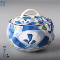 Wholesale Steaming bowl of Japanese hand painted ceramic household tableware glaze color ideas across the water bowl soup bowl with cover the bird s n