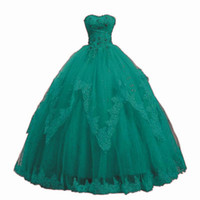Wholesale Sweetheart Lace Tulle Quinceanera Dress Ball Gown Crystal Appliques Back Lace Up Prom Dresses Real Photo
