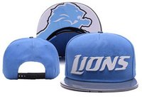american football lions - 2016 American football snapback hat bule Lions adjustable cap for men women freeshipping with box