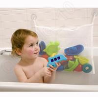 Wholesale LLA192 Baby Kids Bath Tub Toy Tidy Bag Net Mesh Storage Suction Bathroom Stuff Hanging Organiser