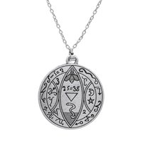 ancient greek gifts - My Shape Adjustable Religious Jewelry Moon And Stars Ancient Greek Religious Engrave Word Pendant Necklace for Man and Woman