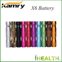 Cheap Kamry eGo X6 Battery 1300mAh Variable Voltage VV Electronic Cigarette Battery 100% Original Matching CE4 V2 X9 atomizers