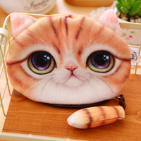big dog star - new cat coin purse ladies D printing cats dogs animal big face change fashion meow star people cartoon zipper bag for children ZD043A