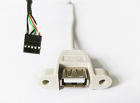 cable assembly - MOQ CM Panel Mount USB AF Motherboard Header to Dupont Housing Assembly Cable bulkhead USB A Female