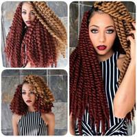 Wholesale 5Pcs inch havana mambo twist crochet braid hair havana twist crochet hair senegalese twist hair crochet twist braids hair