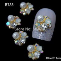 art cells - 100Pcs Alloy Nail Art Rhinestones For Nail Decoration Styling Tools Cell Phone Jewelry Accessories Charm B