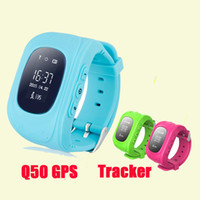 Wholesale Smart Wristbands Q50 GPS Tracker for Child Kid smart Watch SOS Safe Call Location Finder Locator Trackers for Kids Children DHL Free OTH240