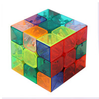 Wholesale New Fashion cool Learning Education Toys Magic Ultra smooth Professional Speed Transparent Cube Puzzle Twist