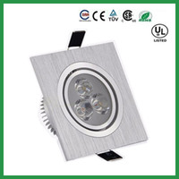 Wholesale Dimmable Ceiling Light Square Led Downlight W X3W Lumens Led Ceiling Light Recessed Downlights Warm Natural Cool White AC V
