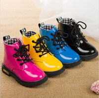 Wholesale 2016 to years old baby girls boots kids fashion boots warm children s snow boots high quality martin boots black pink blue