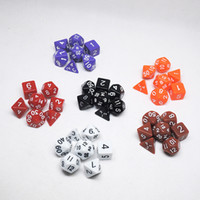Wholesale Resin Polyhedral TRPG Games For Dungeons Dragons Opaque D4 D20 Multi Sides Dice Pop for Game Gaming HHA1000