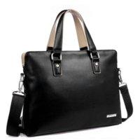 Wholesale Cheap Business Briefcase - Bag Men 2015 Fashion Office Briefcase, Men Leather Handbag Bussiness Bags Notebook Laptop Bag Cheap a4 plastic file folder