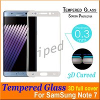 Wholesale Galaxy Note S7 Full Screen Protector Tempered Glass S7 edge Cover Whole Screen Curve Screen Protector With Retail Package Free DHL