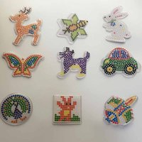 Wholesale Puzzle or mm Hama Perler Beads Pegboards Patterns with colored paper F DIY Kids Craft Plastic Stencil child fuse bead Toys