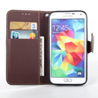 art leather phone covers - Brand Art Print Phone Cases For Samsung Galaxy S S5 PU Leather Litchi Skin Wallet Book Flip Covers For Galaxy S5