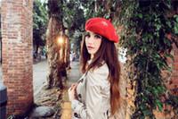 amazing artists - 2016 Hot Women Felt wool French Hat Snowflake Embroidery Beret Caps Felt Pillbox Hat Fashion Amazing Artist Cap