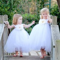 Wholesale Good Quality Cheap Girls Dresses Slip Dresses Princess Baby Girls Dresses Months Clothes Lace With Flower Girls Dresses Gowns Cheap