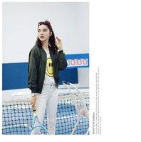 army female uniform - 2016 Spring Leisure All match Jacket Jacket Female Fashion Personality Printing Simple Korean Baseball Uniform Loose Cardigan
