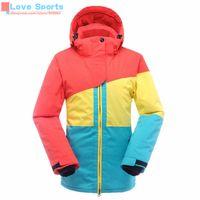 Wholesale High Quality Outdoor Sports Women Winter Clothes Genuine Warm Ski Jacket Windproof Waterproof Cotton Coat Snowboarding Skiwear