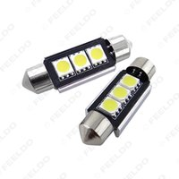 al por mayor can bus hid canbus-50pcs / lot Blanco brillante estupendo 0.6W 36mm 42Lumen 3-LED 5050SMD ningún error de bus CAN-LED de la bóveda del adorno