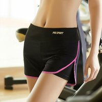 Wholesale Sport Short Pants For Women - 2016 woman clothes summer new sports fitness shorts outdoors running gym Yoga speed dry pants losing weight for girls