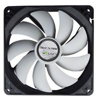 GELID 14cm PWM de baja velocidad del ventilador silencioso silencioso 14 PWM (FN-PX14-12) para la caja de la computadora