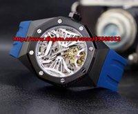 Classique de luxe de la mode vintage importé watchband en caoutchouc automatique percé à travers la coque arrière imperméable Grand Dial Mens Watch