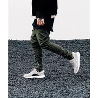 Wholesale 2016 fashion kanye west trousers brand Saint Manshion Side Zipper men slim Yeezs Boost Casual jogger Pants Khiki Black Green