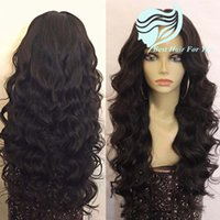 Wholesale 180 heavy density Glueless Lace Front Human Hair Loose Deep Wave Wigs Brazilian Hair Full Lace Wavy Wigs For Black Women