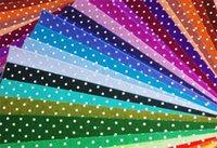 acrylic sheet cut - 30pcs Printed Polka Dots Felt Fabric Pre Cut cm x cm per sheet Mix different colors