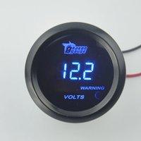 2 inch automotive meters - 52MM black sunglasses blue LED automotive voltage meter voltage warning volt gauge Volt meter