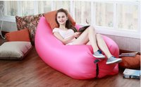 Wholesale Beach Lounge lazy bag inflatable sleeping bag hangout Air Sofa Sleep Camping Bed