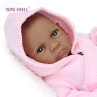 Wholesale NPK Doll inch African American Baby Doll Black Girl Full Silicone Body Reborn Baby Dolls Ethnic Alive Dolls