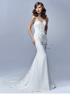 august flowers - 2016 Stunning Mermaid Bridal Gown Sleeveless Sheer Illusion Neckline Satin Flower Appliqué Jaylee August Enzoani Blue Wedding Dresses