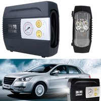 Wholesale Portable PSI Auto Vehicle Car Tire Inflator Air Compressor Pump with LED Light DC12V W CEC_70M