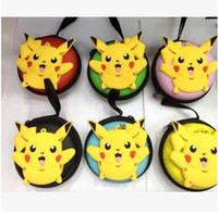ball carry bag - Pikachu Coin Purse Round Zipper Coin Purse Pikachu Headset Package Poke Ball Headphone Headset Carrying Hard Case Storage Bag Pouch Holder