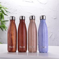 bicycle cross - Hot Stainless Steel Swell Bottle Colors ml Cola Bottle Vacuum SWELL Water Bottle with LOGO