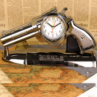 antique gun box - Gun Shape Pistol Alarm Clock Antique Vintage Style Bedside Desk Clocks for Children Kids Boys Novelty Gift with Box Package