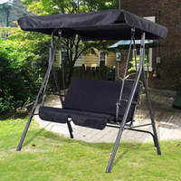bench garden seat - Garden Swing Seat Seater Hammock Outdoor Swinging Bench Cushion Chair Patio Black