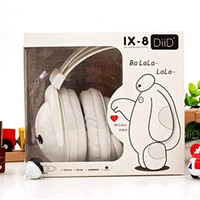 big headphones cartoon - new style Big Hero Baymax headphone earphone mobile phone headset belt anime action figures cartoon kawaii Gift
