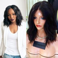Wholesale Human Hair Wigs For Black Women Brazilian Short Bob Wig Wavy For Black Womens Lace Front Wig In Stock