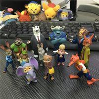 Wholesale Zootopia Pvc Action Figures Toy Animal dolls Anime Utopia Nick Fox Judy Rabbit toy for Kids gift