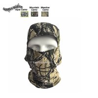 Wholesale Outdoor Gear Airsoft Paintball Shooting Equipment Full Face Protection Natura Pattern Mask Tactical Airsoft Camouflage Bionic Hood